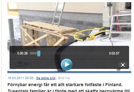 Bergvärme blir allt vanligare i Finland