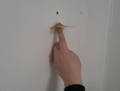 Slipp damm när du borrar i vägg