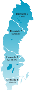 Elområden i Sverige