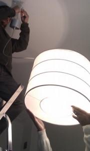 Var noggrann vid byte av lamparmatur