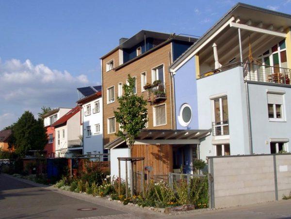 Energieffektiva hus i Vauban. Foto: {link:www.vauban.de}Vauban.de{/link}