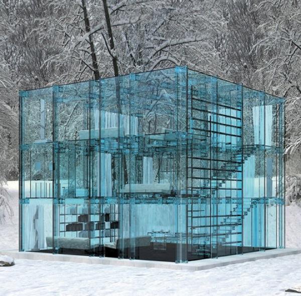 Stenkastare undanbedes – här är ett äkta glashus