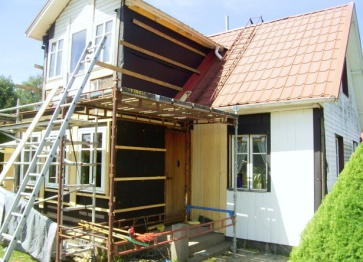 Byte av fönster och paneler på hela huset
