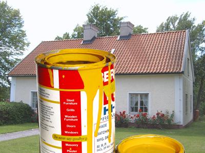 Måla fasaden i sommar