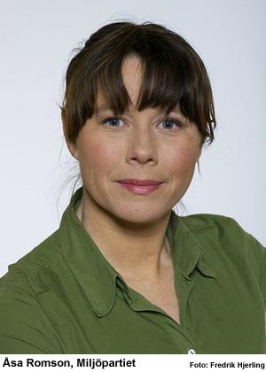 Åsa Romson, Miljöpartiet, vill se ett ROT-avdrag för smarta energilösningar