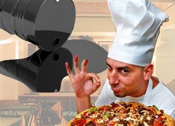 Pizzabagaren lär inte ha varit nöjd efter att han upptäckt läckan. (Bilden är ett montaget)