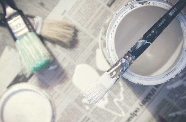 Målarfärg, måla, måla om, målning