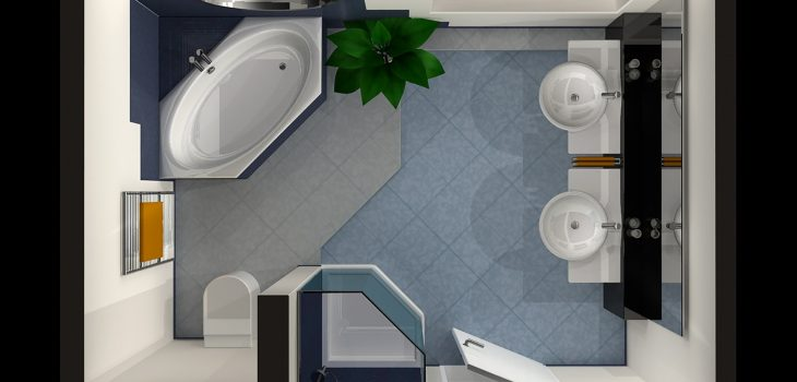 Skiss av badrum